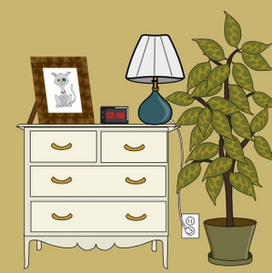 Lamps clipart bedroom furniture Image Dresser Clipart Clock with