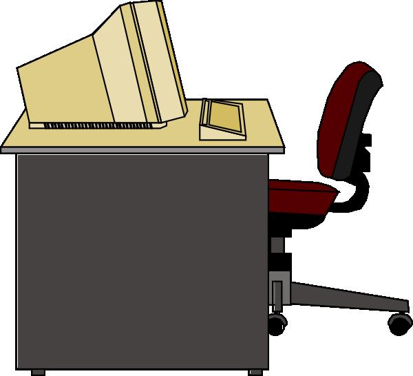 Desk clipart transparent Art image vector at clip