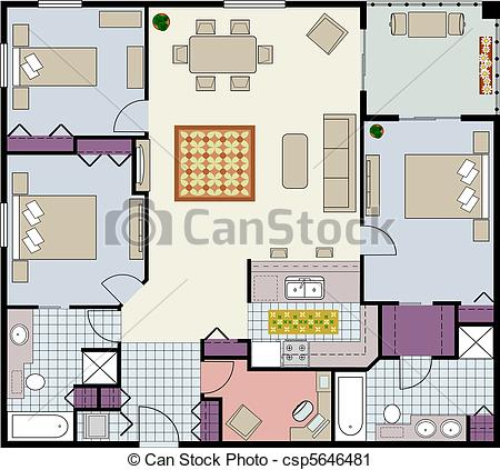 Furniture clipart floor plan Floor Icons For Furniture Furniture