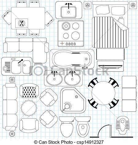Furniture clipart floor plan : Art For Interior Floor