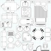 Furniture clipart floor plan Floor Free Simple Plan /