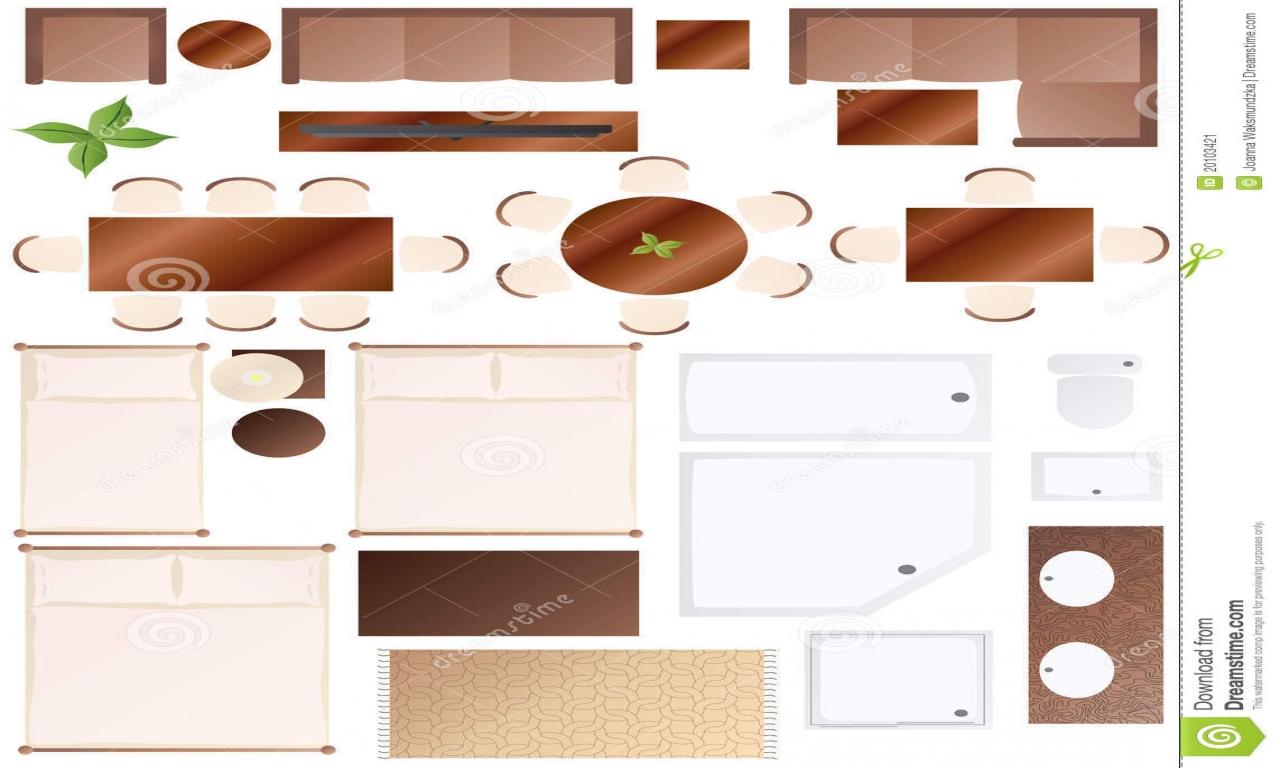 Furniture clipart floor plan Furniture Floor Plan and Furniture