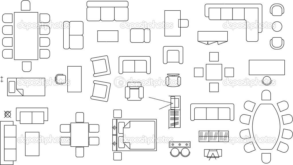 Furniture clipart floor plan Plan Clip Floor Architecture Furniture