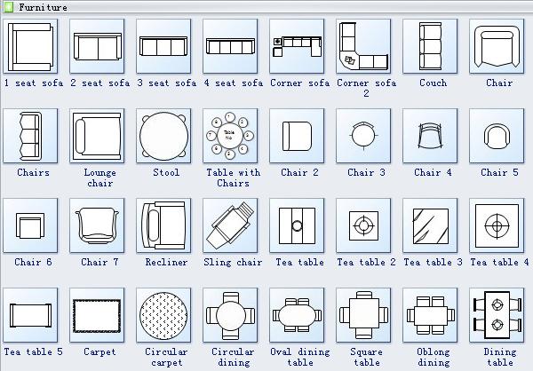Furniture clipart floor plan Floor Plan 2 Plan Symbols