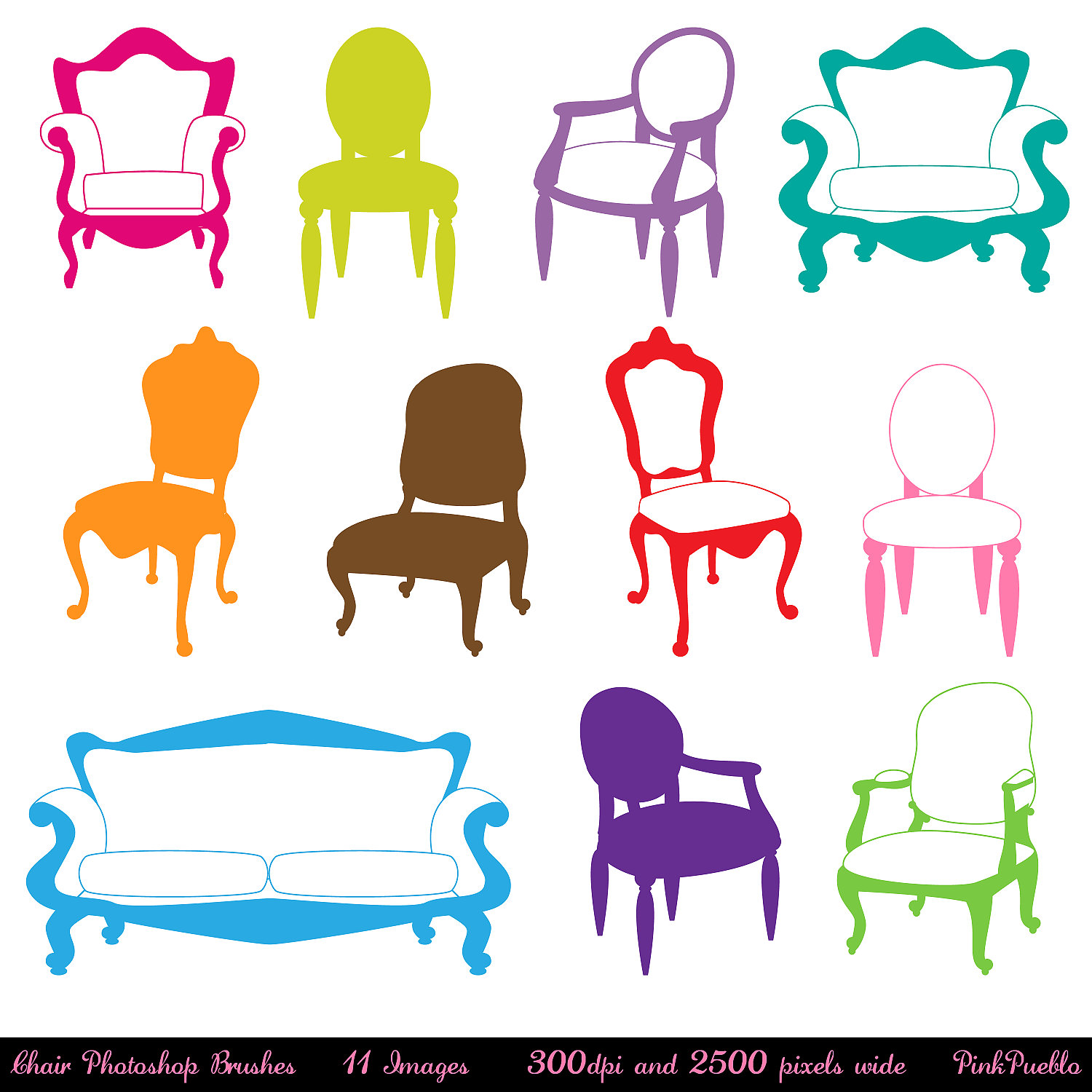 Furniture clipart furniture store Chair Photoshop Decor Brushes Photoshop