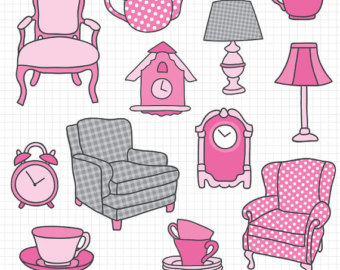Furniture clipart furniture store Clocks and Clipart Etsy Antiques