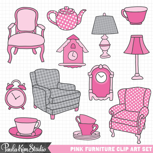 Furniture clipart home furniture And Art Etsy Clipart Clocks