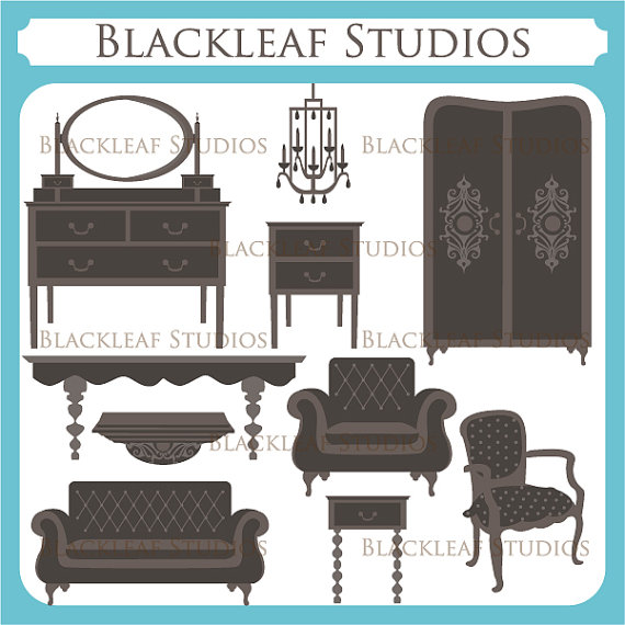 Furniture clipart home furniture Shabby Art Clip Furniture Furniture
