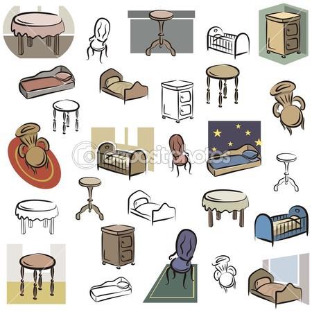Furniture clipart home furniture Art Clip Furniture Home Clip