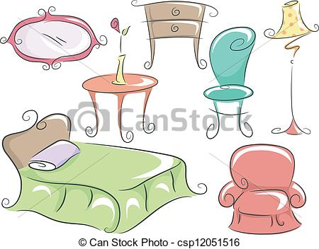 Furniture clipart home furniture Home Clip csp12051516 Illustration of
