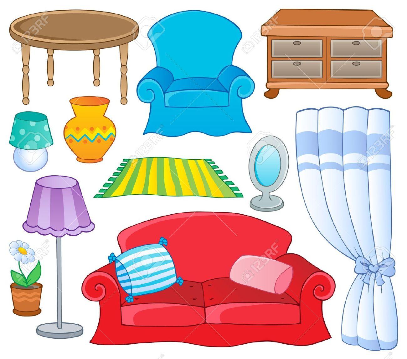 Furniture clipart home furniture Furnishings ideas clip Home furnishings