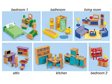 Bedroom clipart doll house #7
