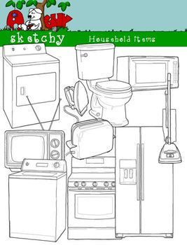 Furniture clipart household item 300dpi Graphics about and fonts