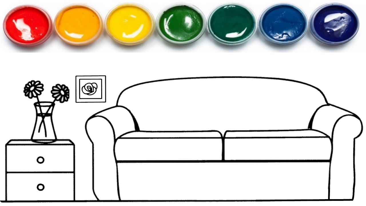 Furniture clipart household item Page Coloring Coloring Colors YouTube