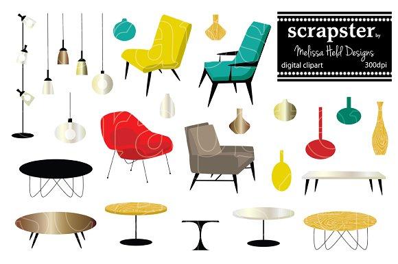 Furniture clipart illustration Creative Market on Furniture ~
