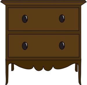 Furniture clipart illustration Furniture Nightstand Drawers Dark a