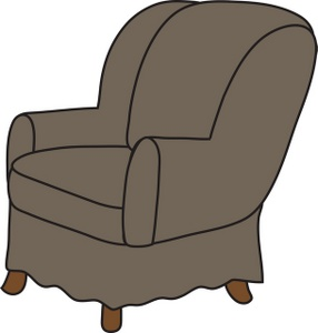 Furniture clipart illustration Clipart Arm Chair a Grey