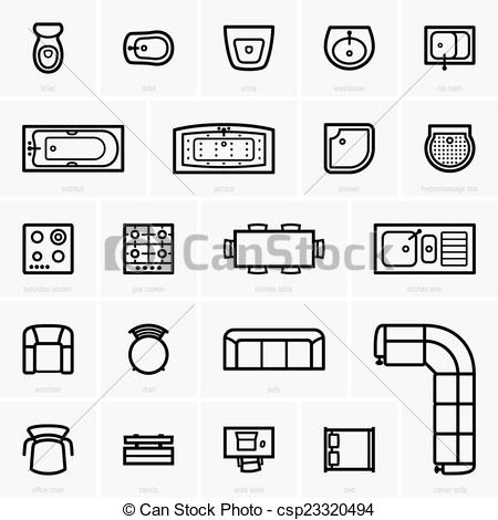 Furniture clipart illustration Top Top icons  view