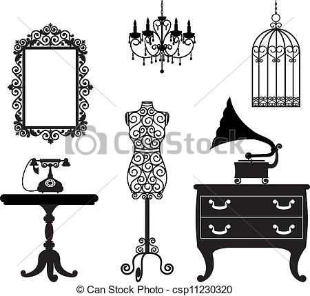 Furniture clipart illustration Csp11230320 Search of Vector csp11230320