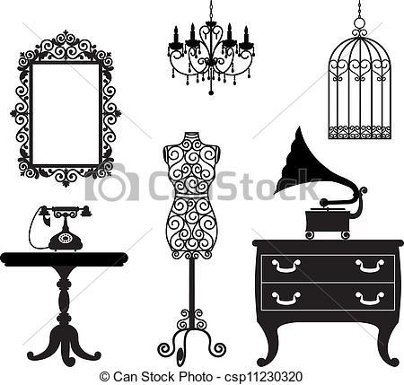 Furniture clipart illustration  csp11230320 Search furniture Vector
