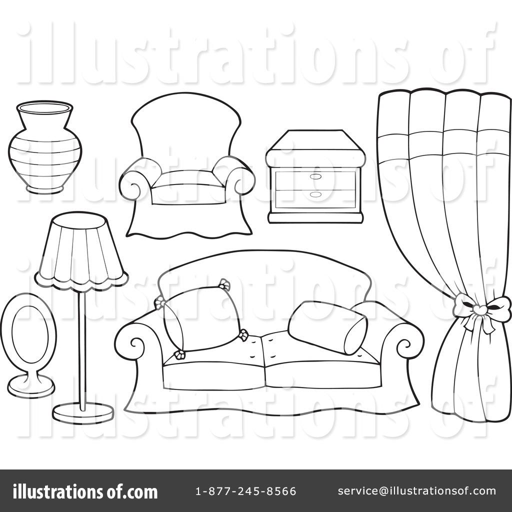 Desk clipart bedroom furniture Visekart Furniture Clipart #1112683 Illustration