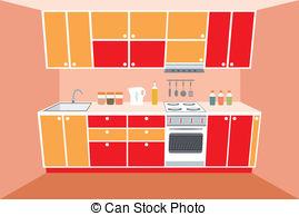 Illustration clipart kitchen Interior  Illustration Vector Kitchen