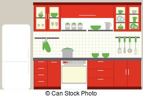 Kitchen clipart kitchen furniture 784 5 kitchen  Royalty
