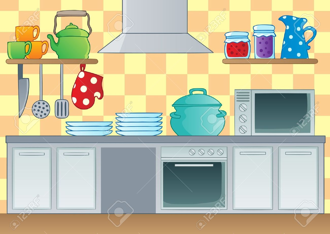 Furniture clipart kitchen room Cartoon The red cartoon Google