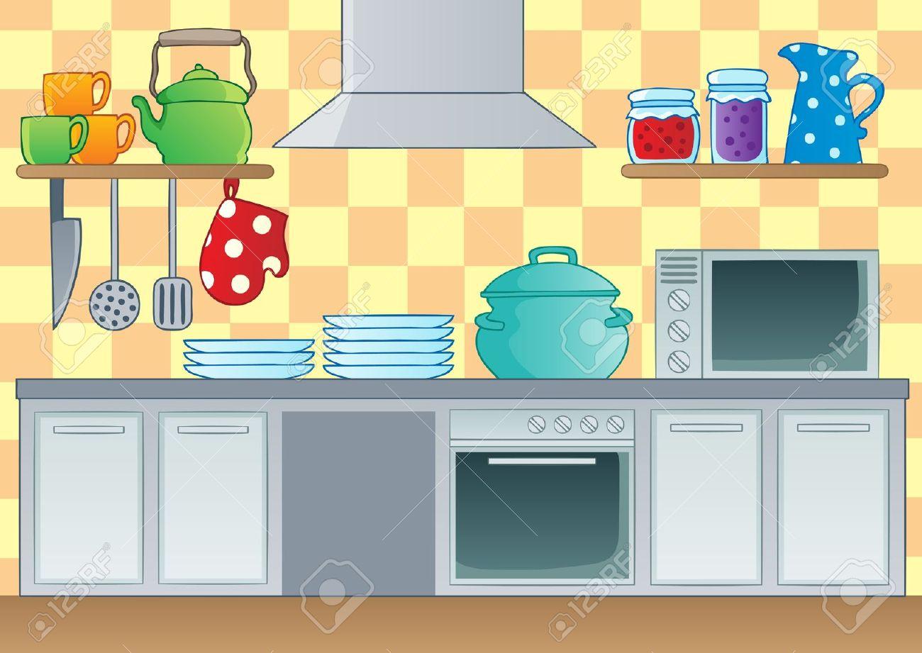 Kitchen clipart cartoon Kitchen The little Google con
