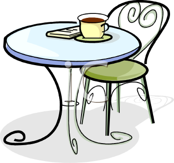 Coffee clipart bistro Clipart Images Table Clipart Round