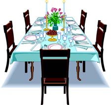 The Kitchen clipart dining room Art room Amusing Table Clip