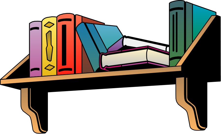 Furniture clipart library shelf Design Furniture Free size free