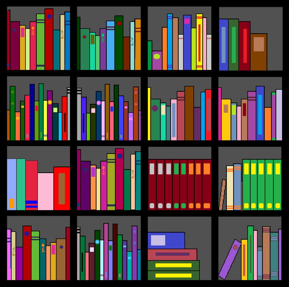 Furniture clipart library shelf Clipartion Bookshelf Clipart #14982 Bookshelf
