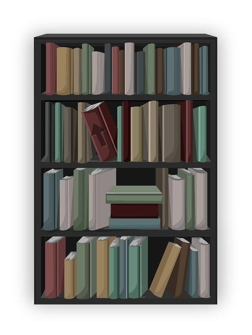 Furniture clipart library shelf Library in bookshelf & Use