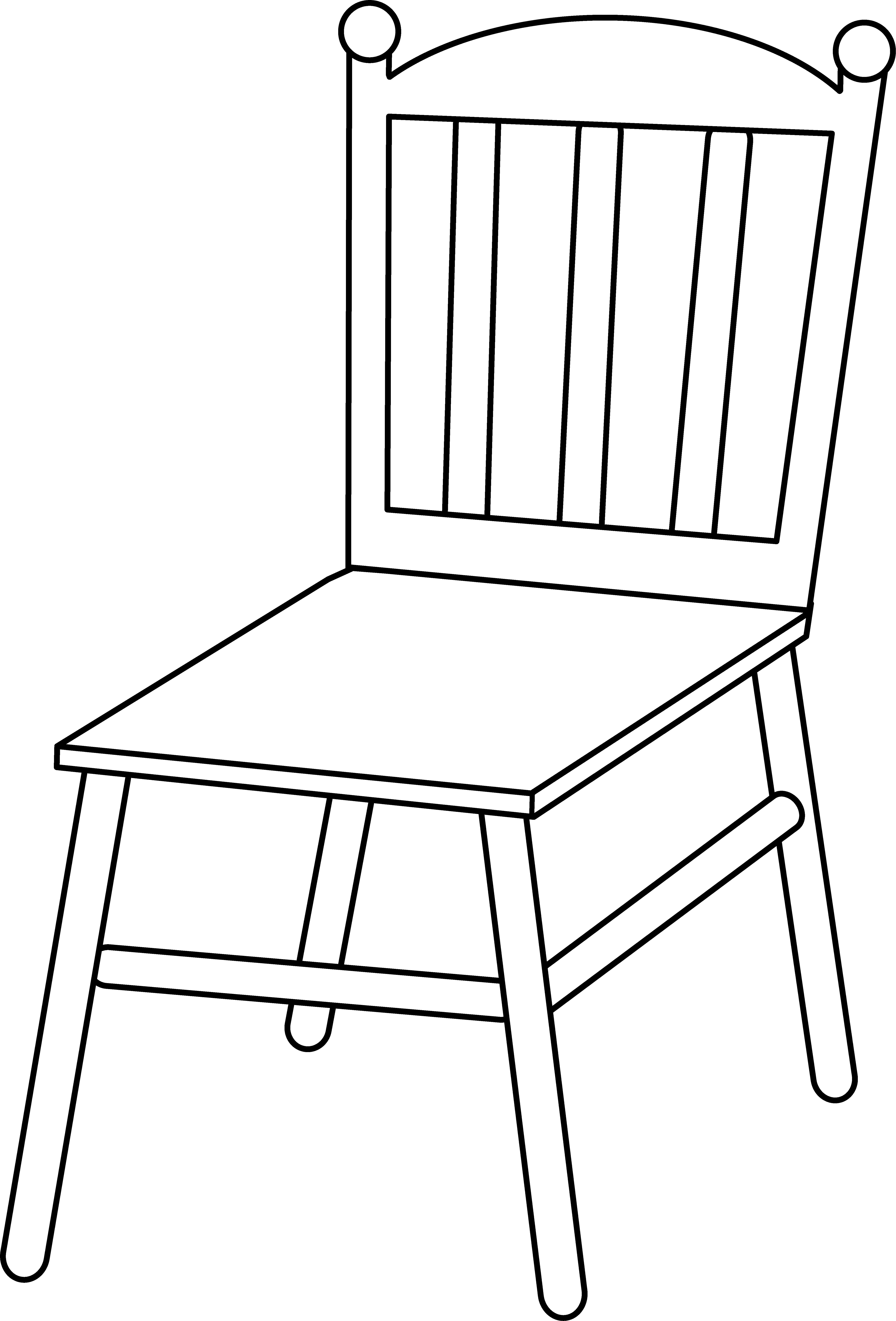 Furniture clipart line art And Black Chair Line White