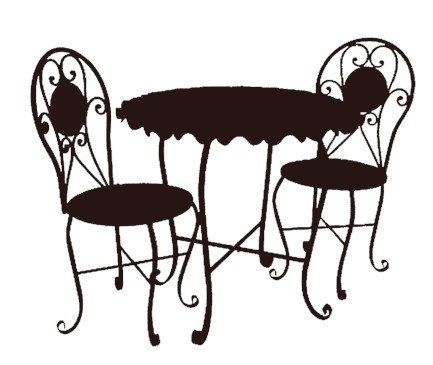 Coffee clipart bistro More Silhouette art Pin about