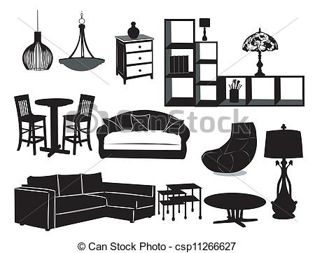 Furniture clipart living room  csp11266627 Living room of