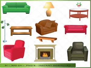 Furniture clipart living room Living Room Items Clip similar