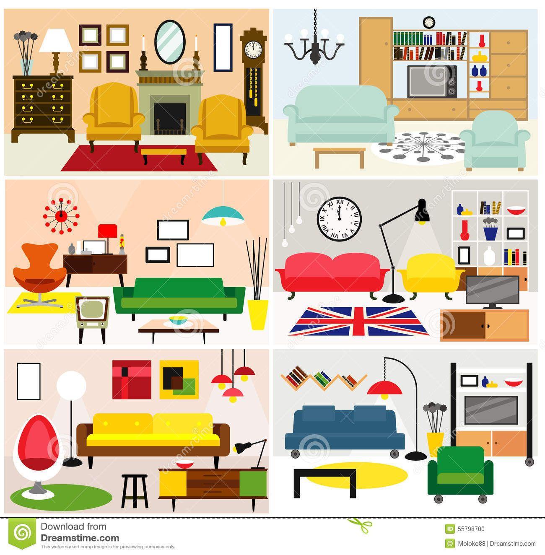 Furniture clipart living room Bedroom Furniture Living Clipart Kid