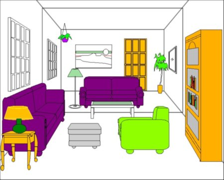 Bedroom clipart preposition Living Cliparts clipart the room