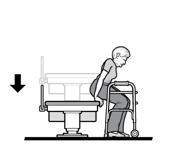 Furniture clipart mobility Table showing in positions Access