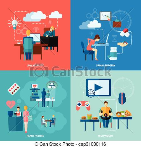 Furniture clipart mobility Mobility design flat illustration of