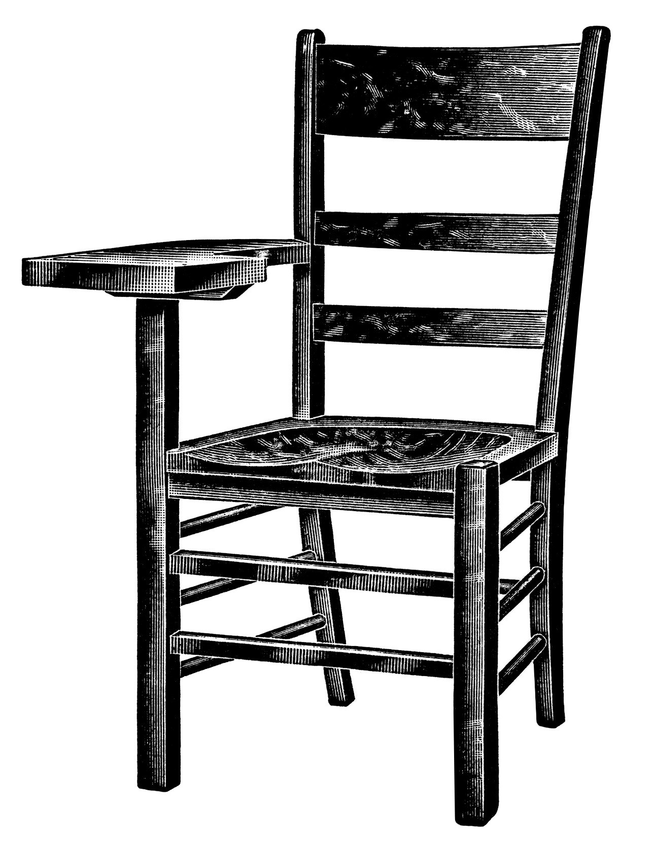 Furniture clipart old chair And white arm black chair