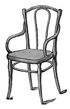 Furniture clipart old chair Black chair art clip chair