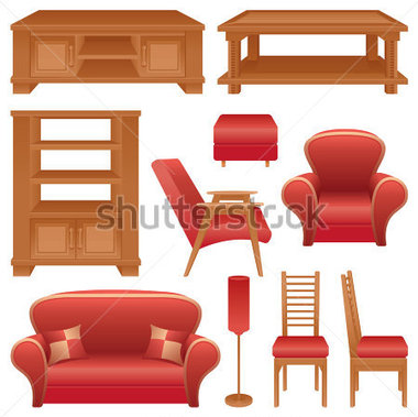 Furniture clipart sala Sala clipart Gallery http://png Set