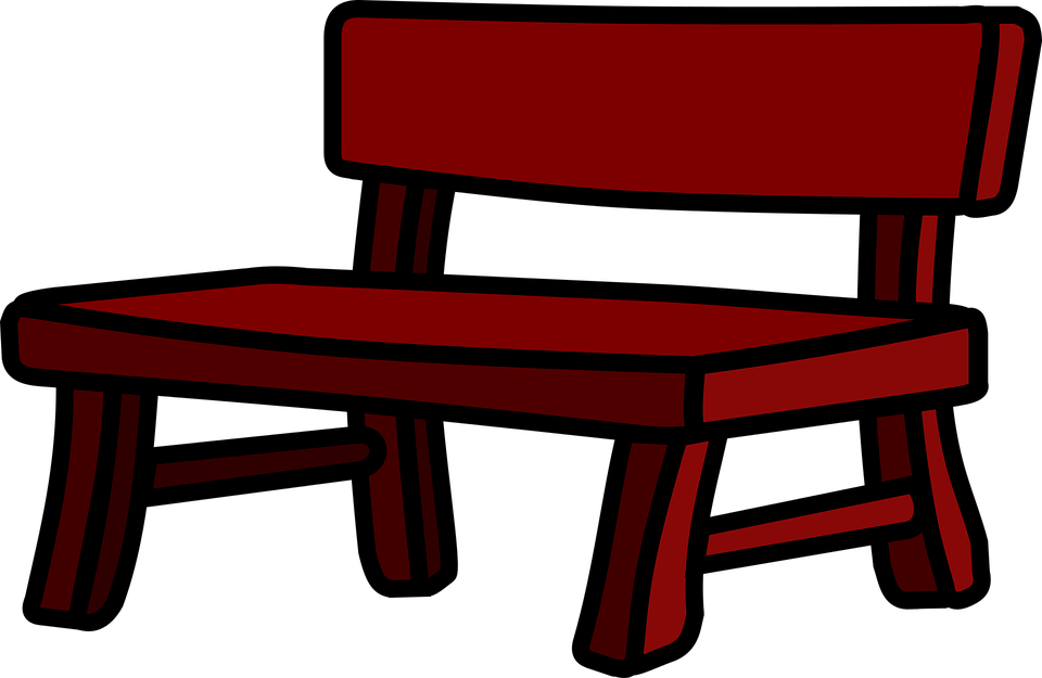 Bench clipart taman On transparent clipart Garden images