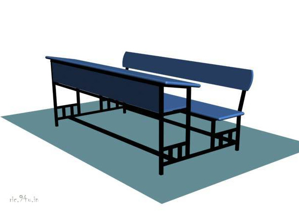 Wood clipart school bench Household blue chair graphic illustration