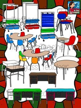Furniture clipart school furniture Furniture (School Classroom Clipart) Furniture