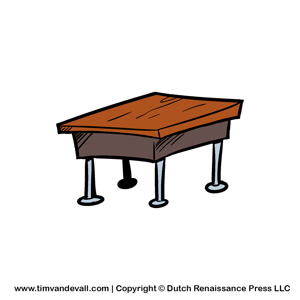 Furniture clipart school table Kindergarten Clipartwork Table Table Clipart