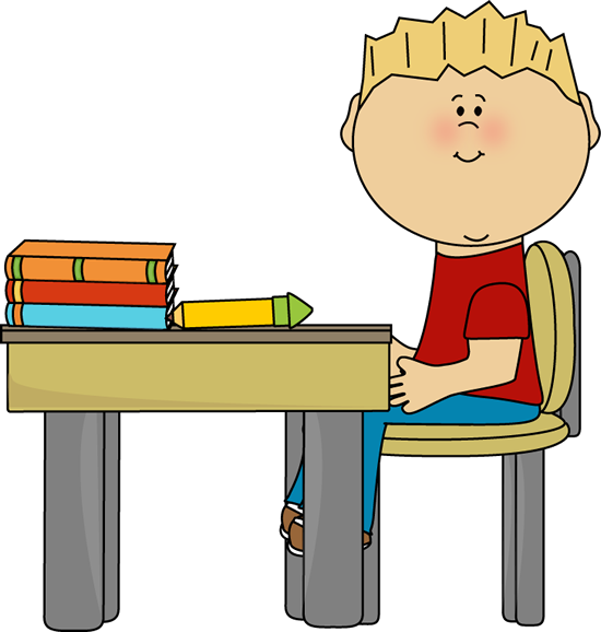 Little Boy clipart school boy Clip Kids Desk Images Clip